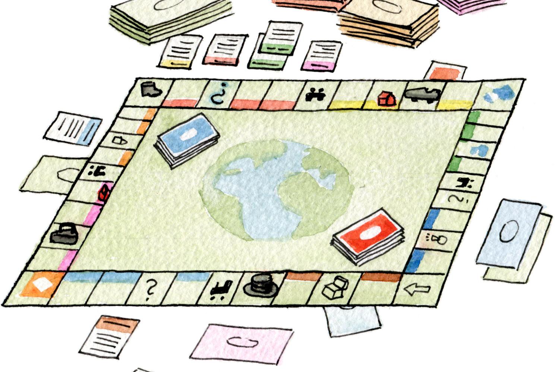 Global inequality: global game rules og just luck? Illustratør: Maria Astrup