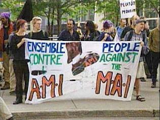 Protester mot MAI-avtalen