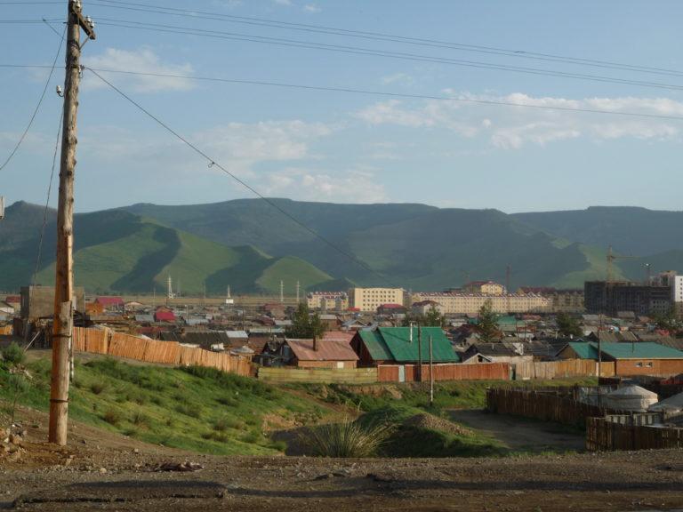 Bogd Khan Uul-fjellet sett fra Ulan_Bator, Mongolia