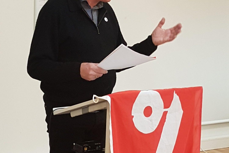 Einar Hagness på landsmøtet 2019