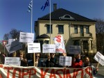 Markering foran den greske ambassaden 2010