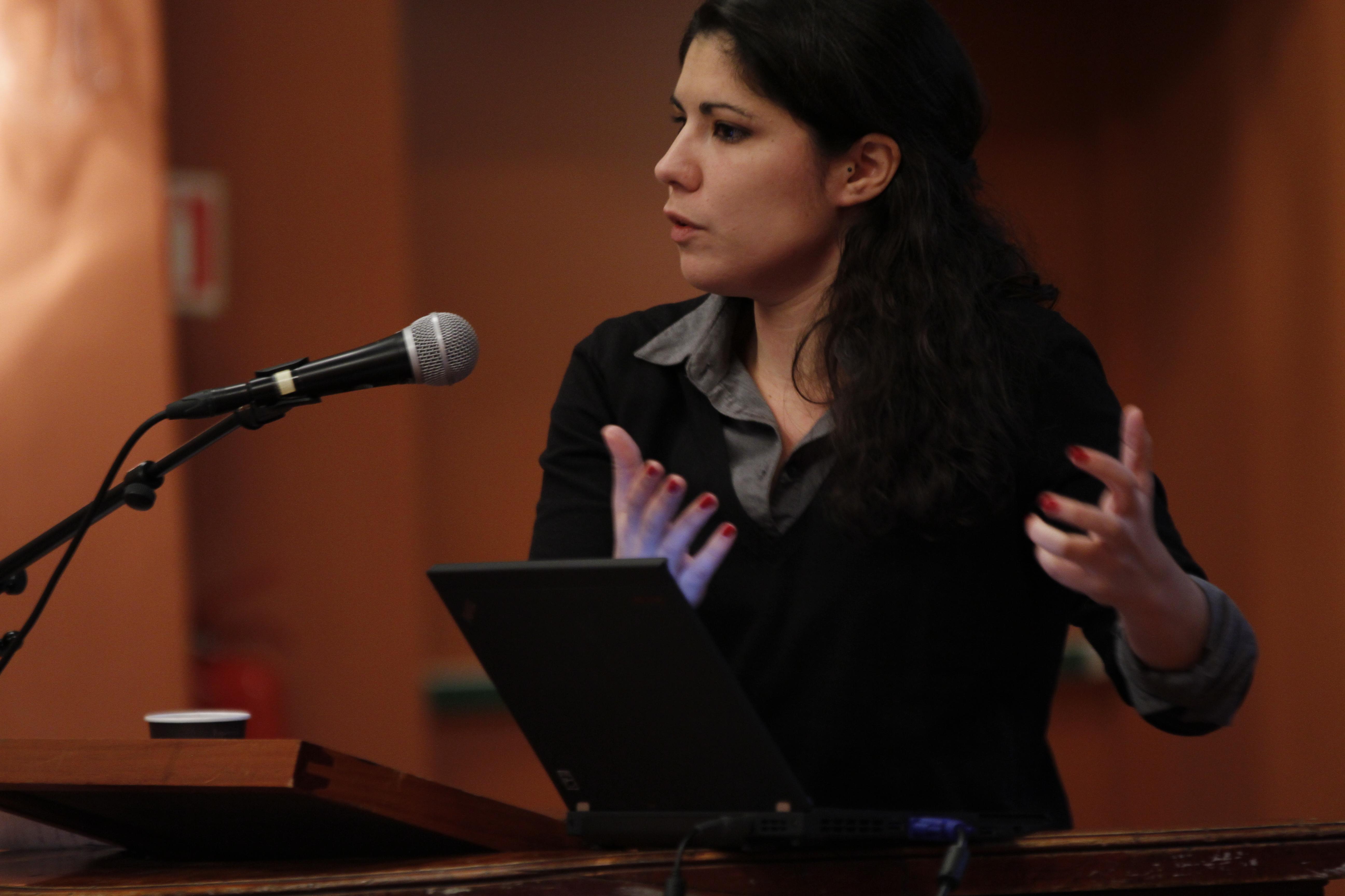 Mariana Montagua på konferansen Nøkler til krisa i Europa