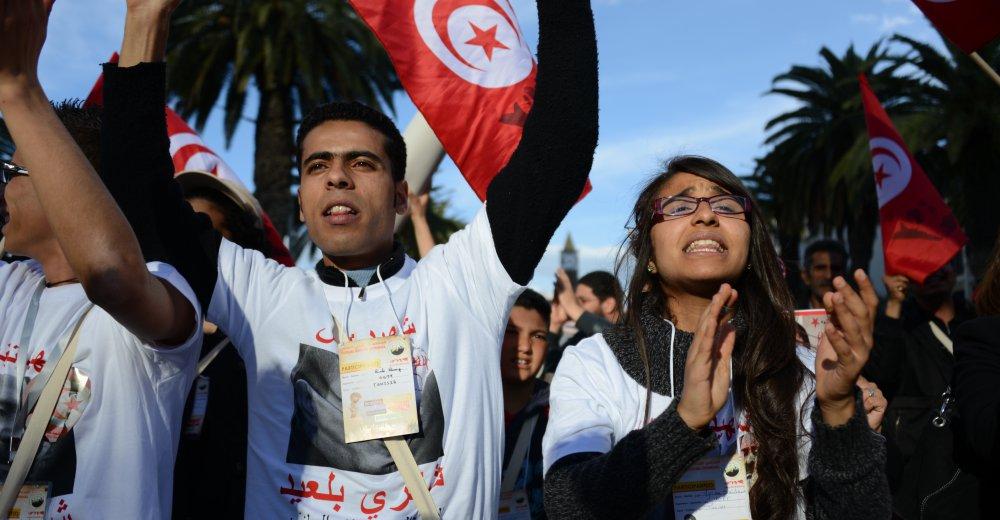 Fra Verdens sosiale forum-marsjen 26.mars. Foto: Attac Frankrike