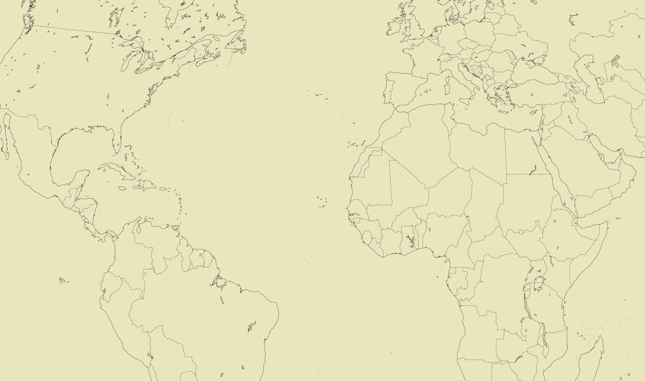 Illustrasjon: Politisk kart over verden