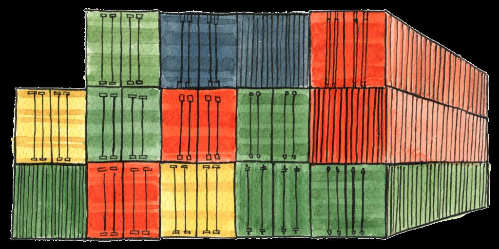 Illustrasjon: containere