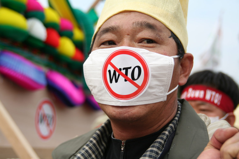 Protest mot WTO Hong Kong 13.12.2005