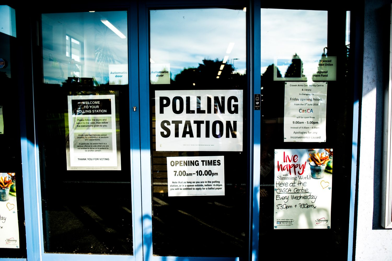 Bilde av britisk stemmelokale