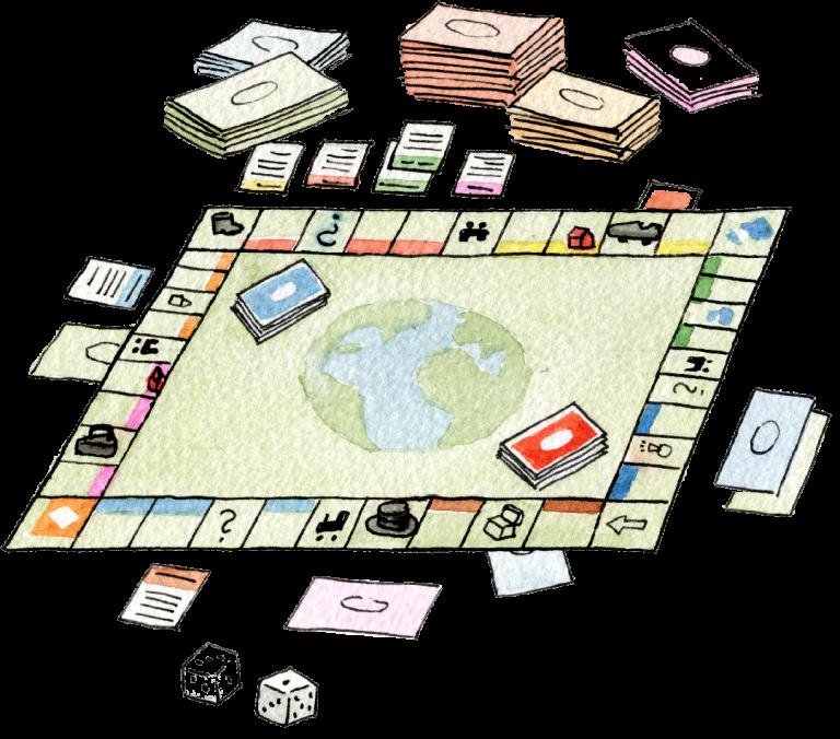 Verden som et monopol-spill