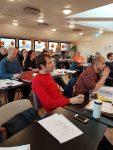 Avtroppende leder Petter Slaatrem Titland følger oppmerksomt med på landsmøtet 2019