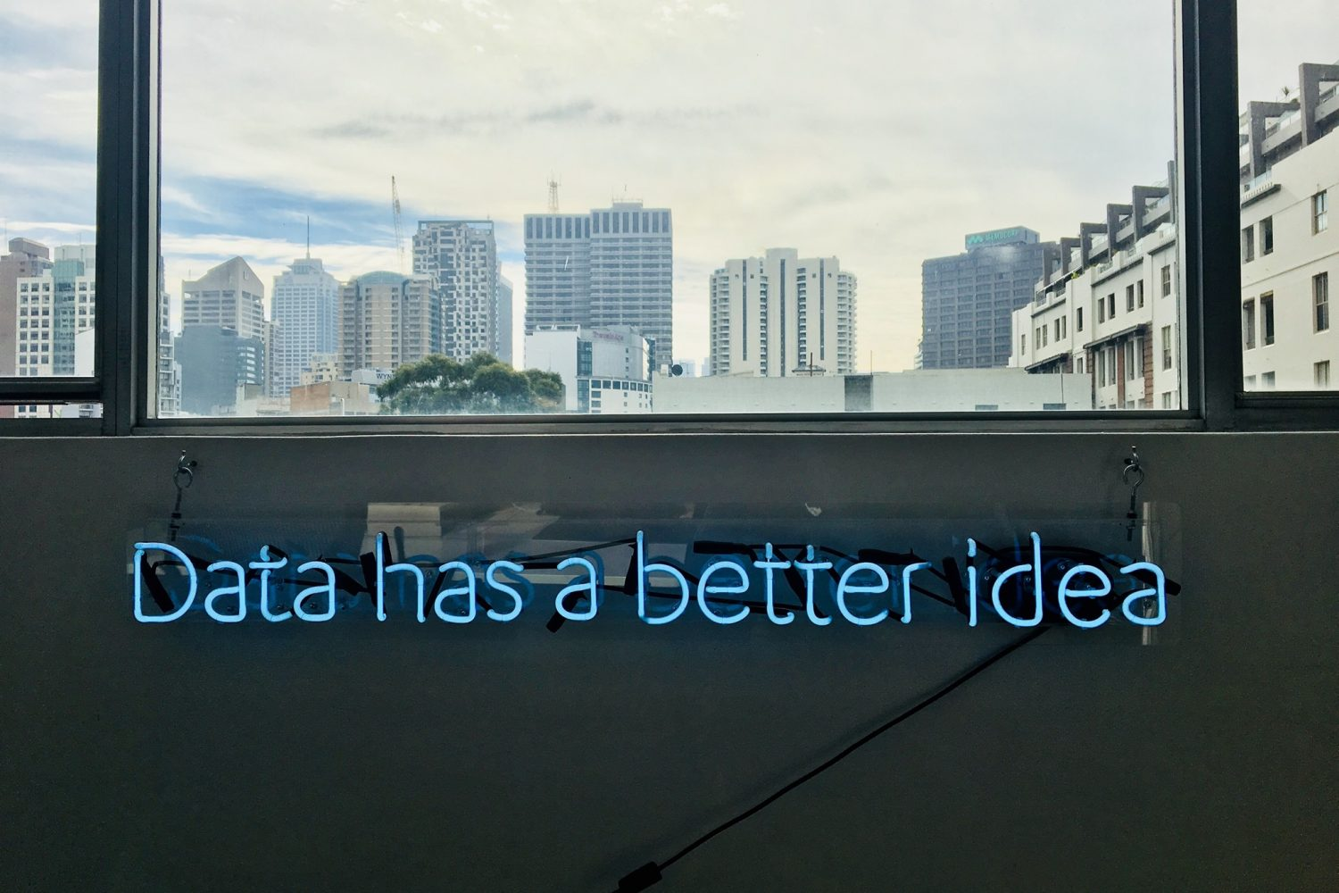 """Data has a better idea"""