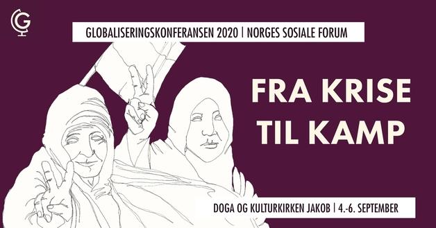 Plaktat for konferansen med to arabiske kvinner demonstrer