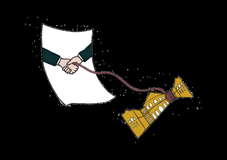 Illustrasjon: Avtaler binder opp Stortinget